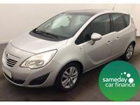 ONLY £157.24 PER MONTH SILVER 2011 VAUXHALL MERIVA 1.7 CDTI SE AUTO DIESEL