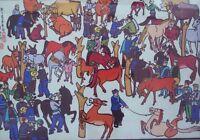 Watercolor - Chinese Peasant Folk Art