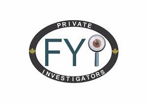 FYI Private Investigators   Surveillance & Backgrounds Stratford Kitchener Area image 1