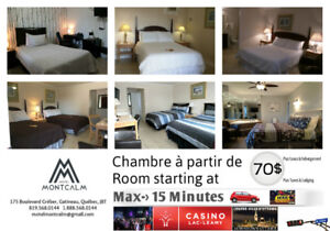CLEAN ROOM near OTTAWA starting at 70$+Tx/Lodging AVAILABLE