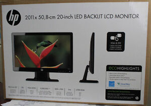 HP 20 inch LED Backlit LCD monitor