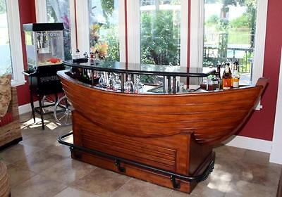 New LOWER PRICE Hooker Furniture, Brown, Solid Mahogany Home Boat Cocktail Bar