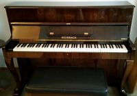 Mint condition Weinbach (Petrof) Upright piano with bench