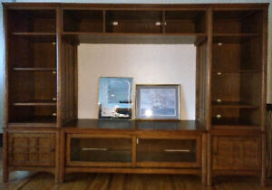 Solid Wood Large Screen Entertainment Centre