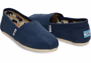 NEW Classic Navy Canvas Shoes - Size 10