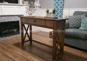 Rustic Desk (new) - accent furniture (breadboard top)