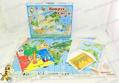 Around the World Russian Geography board game/Вокруг Света Географическая Игра