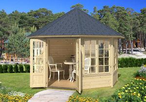 Octagonal Log Pavilion