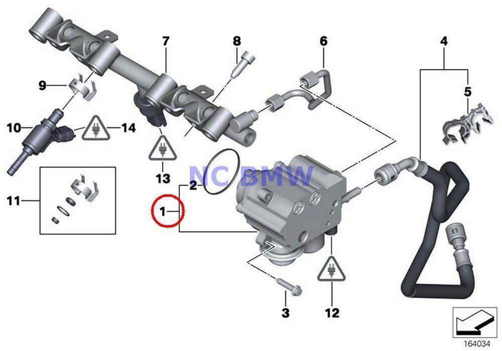 high pressure fuel pump fit bmw mini cooper s turbocharged r55 r56 r57 r58 r59 614024741476