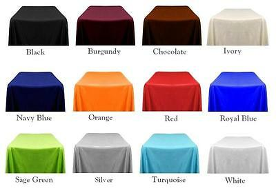 """5 Packs Rectangle 90""""x132"""" Polyester Tablecloth 6ft Banquet"""