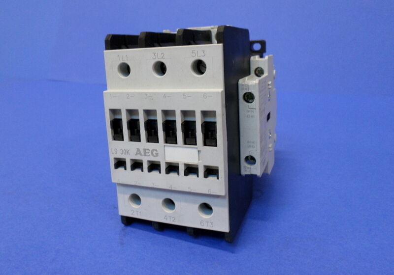 AEG LS30K CONTACTOR 100A 600V WITH AEG HS8K.11 USED