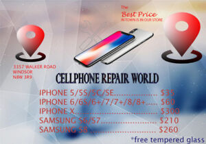 Best Cellphone Repair Prices in Windsor for  Iphone & Samsung