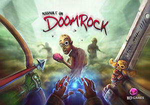 ASSAULT ON DOOMROCK. CARD /BOARD GAME.