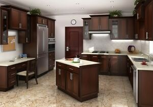 SOLID WOOD CABINETS FOR KITCHEN &BATHROOM