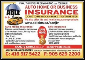 CHEAP AUTO HOME LIFE & VISITOR INSURANCE SUPER VISA