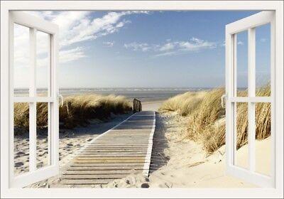 Fenster Poster (Poster oder Leinwand Bild Eva Gruendemann Landschaft Fensterblick Foto Weiß C0HG)