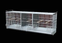 Triple Compartment Breeding Cage for Finch Canary Small Bird