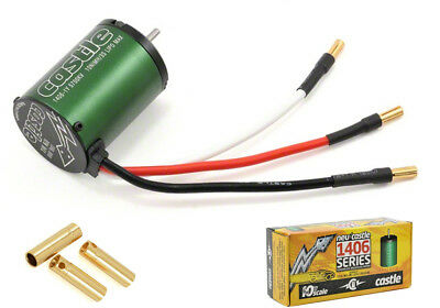 Castle Creations 4 POLE 5700kV 3S LIPO MAX 1406 Sensorless Brushless Motor