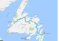 Corner Brook to St. John's weekend of March 31- April 2
