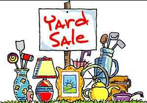 YARD SALE  8am to 12pm