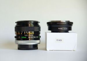 CANON FD 50mm F/1.4 S.S.C. MF Lens for Sony E-mount