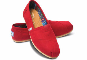 Toms Canvas Red Classic - Women Size 9.5