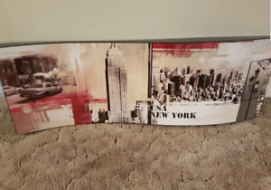 Long curved new York wall art
