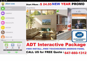 6 Month FREE ADT SECURITY SYSTEM/CAMERA ..FREE INSTALL