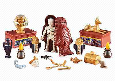 Playmobil 6483 Egyptian Pharaoh Gold Treasure with MUMMY NEW Add On Set