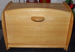 maple breadbox w/cutting board