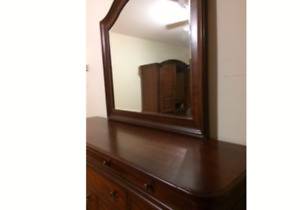 Dresser mirror and armoire
