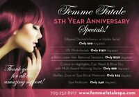 WOW!!! Incredible Savings 5th year Spa/Salon Anniversary