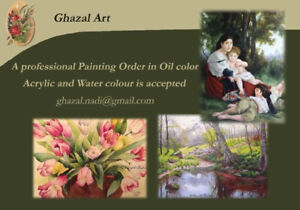 Professional painting orders in oil color, acrylic, water color