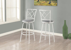Monarch Bar Height Bar Stool - Set of 2 - Silvery Grey Brand new