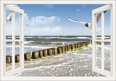 Fenster Poster (Poster oder Leinwand Bild DeVIce Landschaften Fensterblick Fotografie Weiß C0NG)