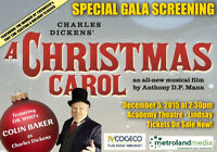 A Christmas Carol screening at the Lindsay Academy Theatre