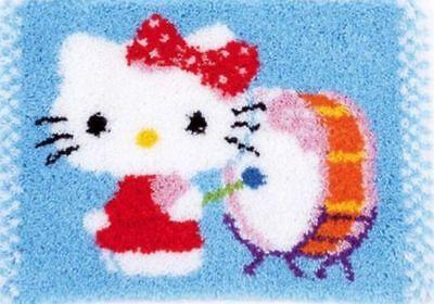 Vervaco Knüpfteppich Kindermotiv  Hello Kitty 55x40 cm 1 St  KKPN0156491