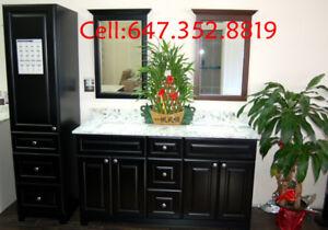 kitchen cabinet, bathroom vanities, marble countertops