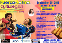 Latin Culture Day- in partnership with City of Vaughan