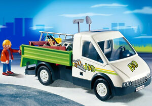 Playmobil: Large collection of 4 Construction sets and Vehicules