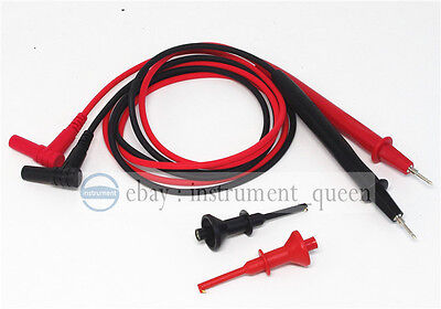 Insulated PVC 4mm test lead tip with screw+Extention Probe Hook threaded Clips