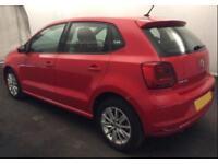 2015 RED VW POLO 1.2 TSI 90 SE DSG PETROL 5DR HATCH CAR FINANCE FR £29 PW