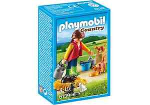 6139 Playmobil - Woman with Cat Family