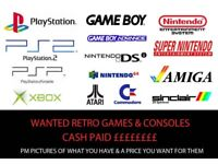 WANTED Retro video games & consoles