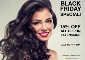 ❤CALGARY CLIP-IN EXTENSIONS 15%OFF BLACK FRIDAY SALE❤