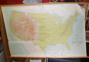 Hanging Wall Map (USA) Kitchener / Waterloo Kitchener Area image 1