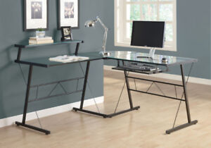 Tempered Glass Home Office Desk