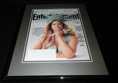 Laverne Cox Framed 11X14 Original 2015 Entertainment Weekly Cover Orange New Blk