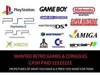 Retro games consoles & games