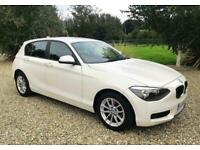 BMW 114i ES -1.6 TWIN TURBO - MANUAL - PEARL WHITE - JUST 35,000 MILES - PX BIKE